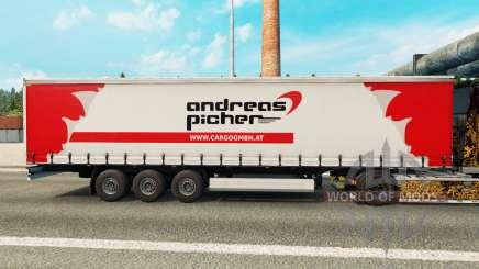La piel Andreas Picher en una cortina semi-remolque para Euro Truck Simulator 2