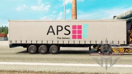 La piel de la APS en una cortina semi-remolque para Euro Truck Simulator 2