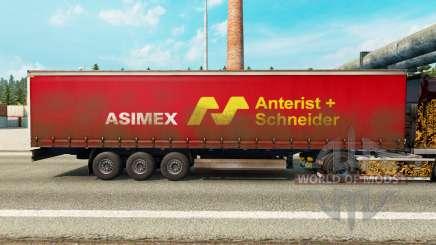 La piel Asimex en una cortina semi-remolque para Euro Truck Simulator 2
