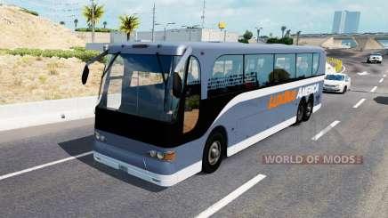 Una colección de autobuses en el tráfico de v1.0.1 para American Truck Simulator