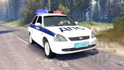 LADA Priora de la Policía de DPS (VAZ-2170) v2.0 para Spin Tires