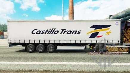 La piel Castillo Trans en una cortina semi-remolque para Euro Truck Simulator 2