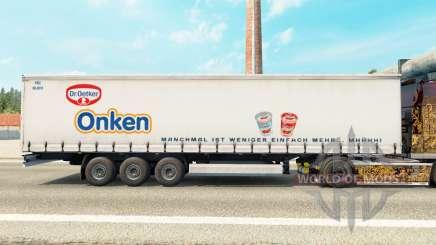 La piel de Dr. Oetker Onken en una cortina semi-remolque para Euro Truck Simulator 2