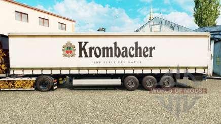 La piel Krombacher en una cortina semi-remolque para Euro Truck Simulator 2