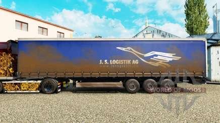 La piel de J. S. Logistik AG en una cortina semi-remolque para Euro Truck Simulator 2