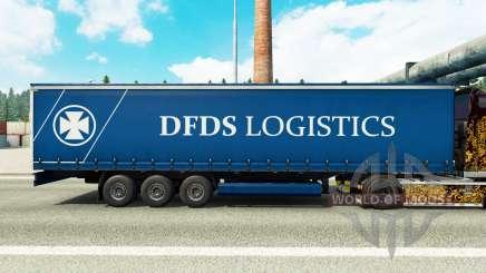 La piel DFDS Logística en una cortina semi-remolque para Euro Truck Simulator 2