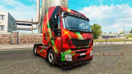 Rojo Efecto de la piel para Iveco tractora para Euro Truck Simulator 2