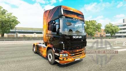 Cúbica de la Llamarada de la piel para Scania camión para Euro Truck Simulator 2