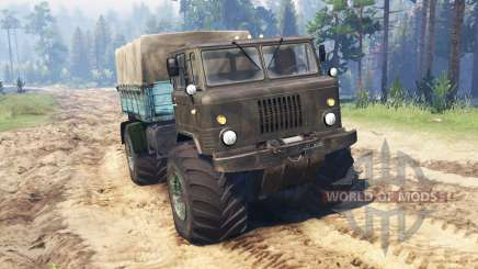 GAZ-66 Mamut Kuzma para Spin Tires