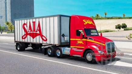 El tráfico de carga en los colores de las empresas de transporte para American Truck Simulator