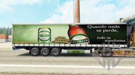 La piel Ecobier en una cortina semi-remolque para Euro Truck Simulator 2