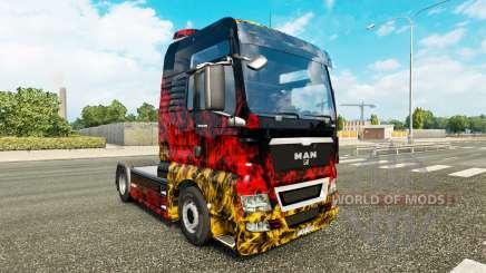 La piel de Alemania en el tractor HOMBRE para Euro Truck Simulator 2