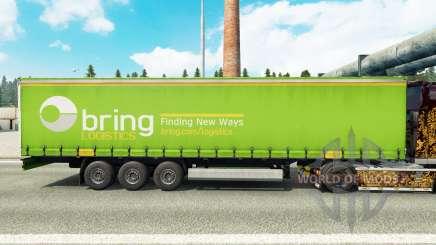 La piel de Llevar la Logística en una cortina semi-remolque para Euro Truck Simulator 2