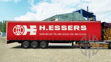 H. Essers de la piel para la cortina semi-remolque para Euro Truck Simulator 2
