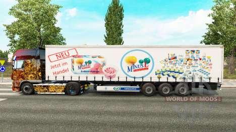 La piel MinusL en una cortina semi-remolque para Euro Truck Simulator 2