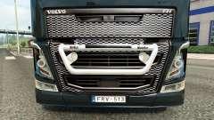El parachoques de la guardia Kelsa en Volvo truc