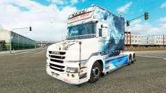 El humo de la piel para camión Scania T