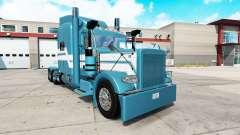 Hielo azul de la piel para el camión Peterbilt 3