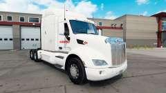 Estafeta de la piel para el camión Peterbilt 579