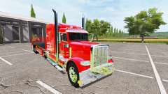 Peterbilt 388 flatbed auto load
