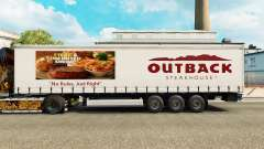 La piel Outback Steakhouse en una cortina semi-r