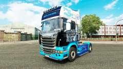 La piel en el tractor Scania