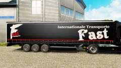 La piel Rápida Internationale Transporte en semi