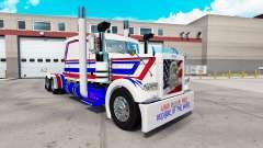 América piel para el camión Peterbilt 389