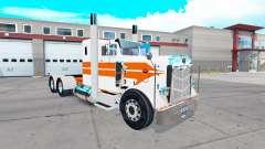 La piel de Naranja rayas en el camión Peterbilt