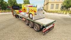 Semi-remolque de la plataforma de camión Peterbi