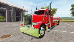 Peterbilt 388 flatbed day cab
