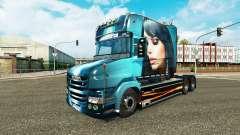 Hermosa Chica de piel para camión Scania T