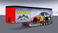 Cortina semirremolque Krone NASCAR