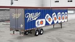 Todo el metal-semirremolque Miller Lite