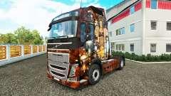Sexy Steampunk de la piel para camiones Volvo