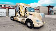 León de la piel para el camión Peterbilt 579