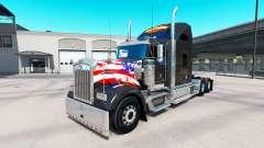La piel de Harley-Davidson en el camión Kenworth