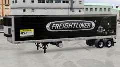 La piel Freightliner reefer semi-remolque