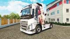 La piel Artística Chica en Volvo trucks