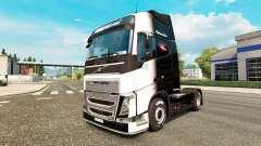 El Blanco y Negro de la piel para camiones Volvo