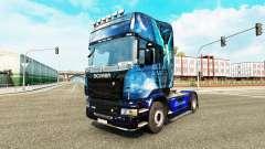 Ángel azul de la piel para Scania camión