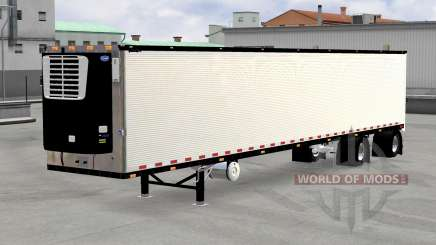 Cromado reefer remolque v1.4 para American Truck Simulator