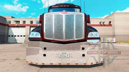 Parachoques de cromo para un Peterbilt 579 tractor para American Truck Simulator