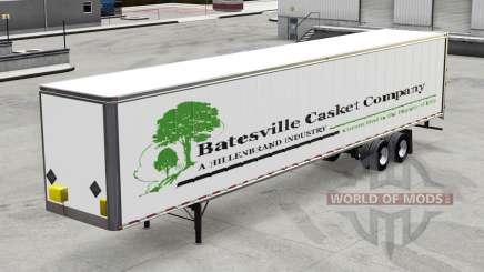 El trailer de Batesville Ataúd v1.2 para American Truck Simulator