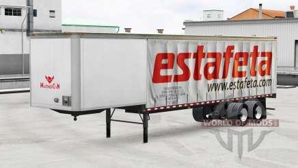 La piel de Estafeta en una cortina semi-remolque para American Truck Simulator