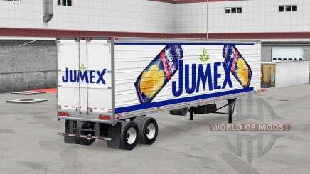 Jumex de la piel en el remolque refrigerado para American Truck Simulator