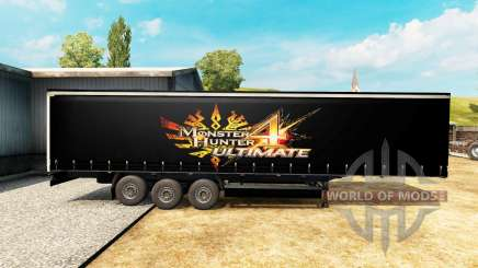 La piel de Monster Hunter 4 Ultimate en el trailer para Euro Truck Simulator 2