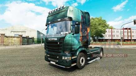 La piel de la Fantasía de la Nave en el tractor Scania para Euro Truck Simulator 2