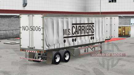 La piel de M. S. de los Transportistas en una cortina semi-remolque para American Truck Simulator