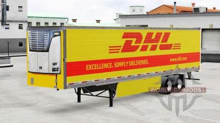 La piel de DHL para frigoríficos semi-remolque para American Truck Simulator